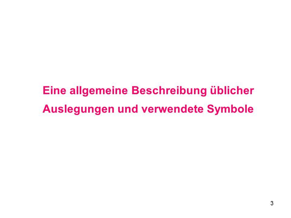 3 Eine allgemeine Beschreibung üblicher Auslegungen und verwendete Symbole