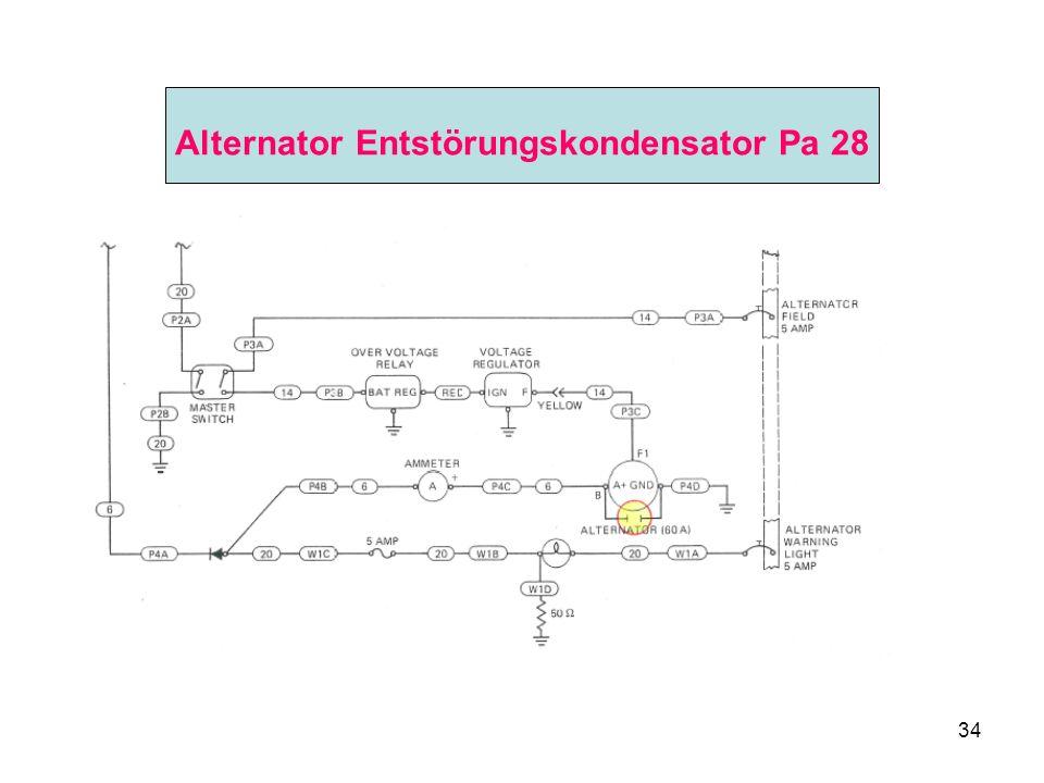 34 Alternator Entstörungskondensator Pa 28