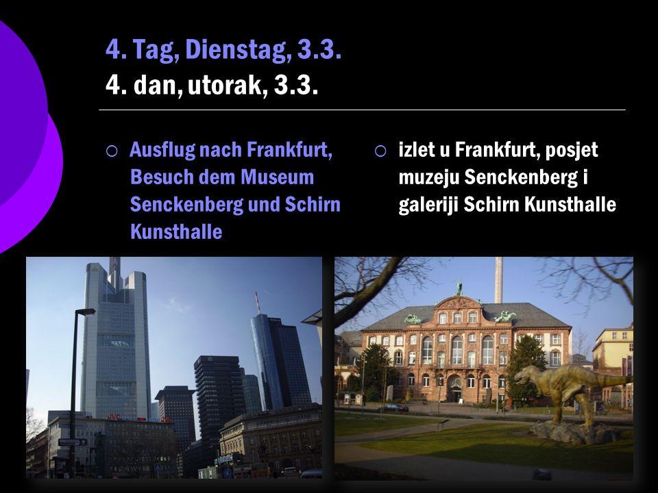 Josip Tolić, 3.OG 4 Der Ausflug in Senckenberg Museum war sehr lehrreich, weil wir viele Bilder, Tiere und interaktive Dinge gesehen haben.