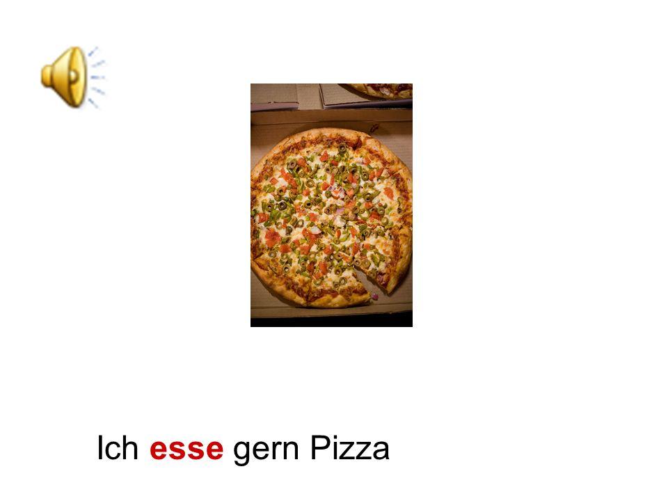 Ich esse gern Pizza