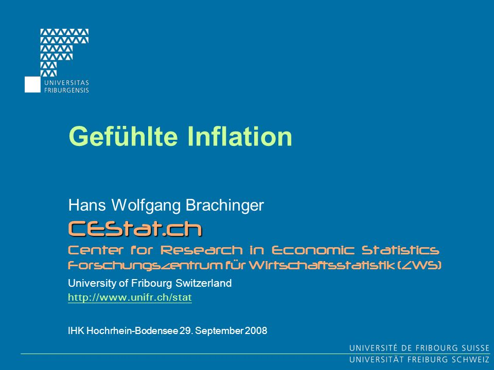 22 Prof.Dr. H. W. Brachinger IHK Hochrhein-Bodensee 29.