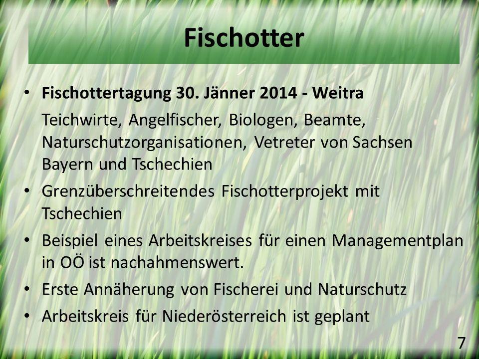 Fischottertagung 30. Jänner 2014 - Weitra Teichwirte, Angelfischer, Biologen, Beamte, Naturschutzorganisationen, Vetreter von Sachsen Bayern und Tsche