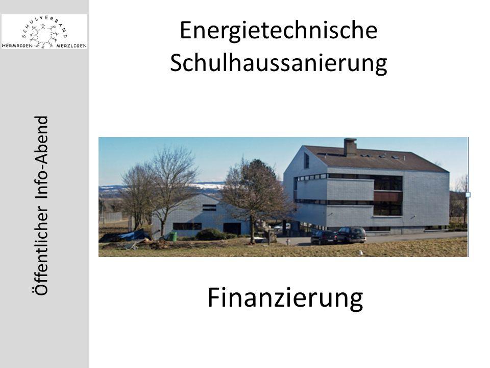 Öffentlicher Info-Abend Energietechnische Schulhaussanierung Finanzierung
