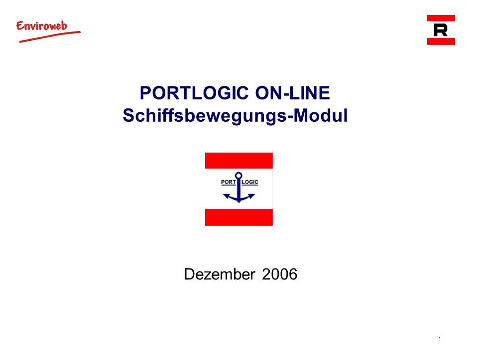 1 PORTLOGIC ON-LINE Schiffsbewegungs-Modul Dezember 2006