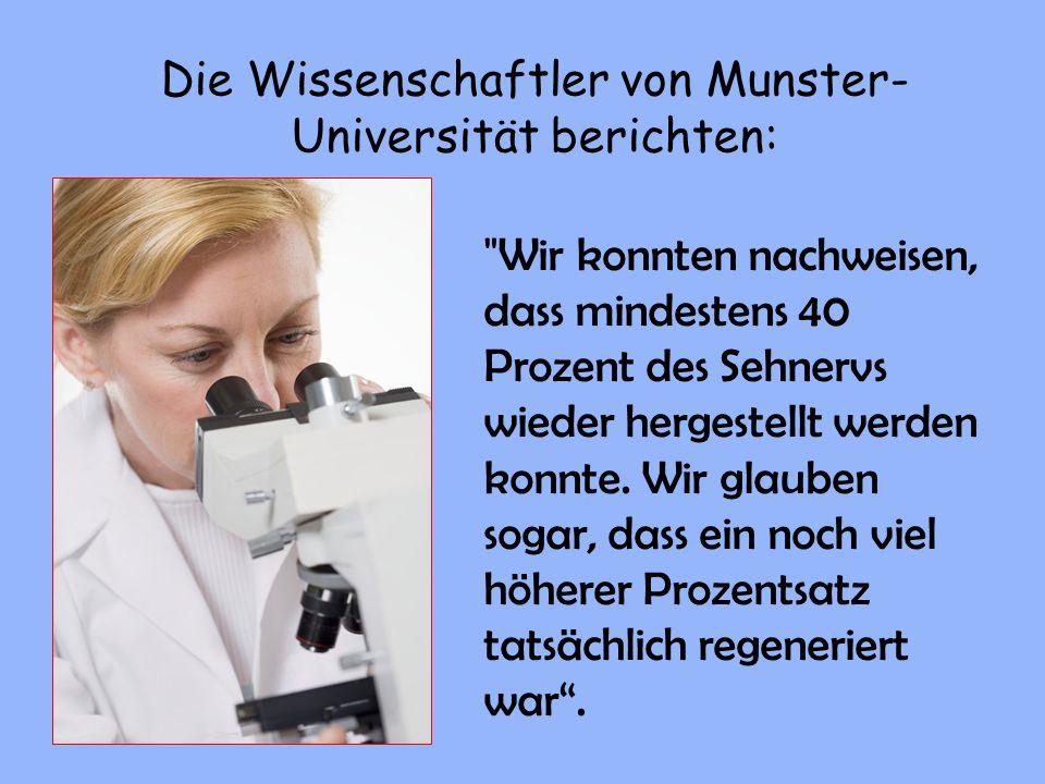 Die Wissenschaftler von Munster- Universität berichten:
