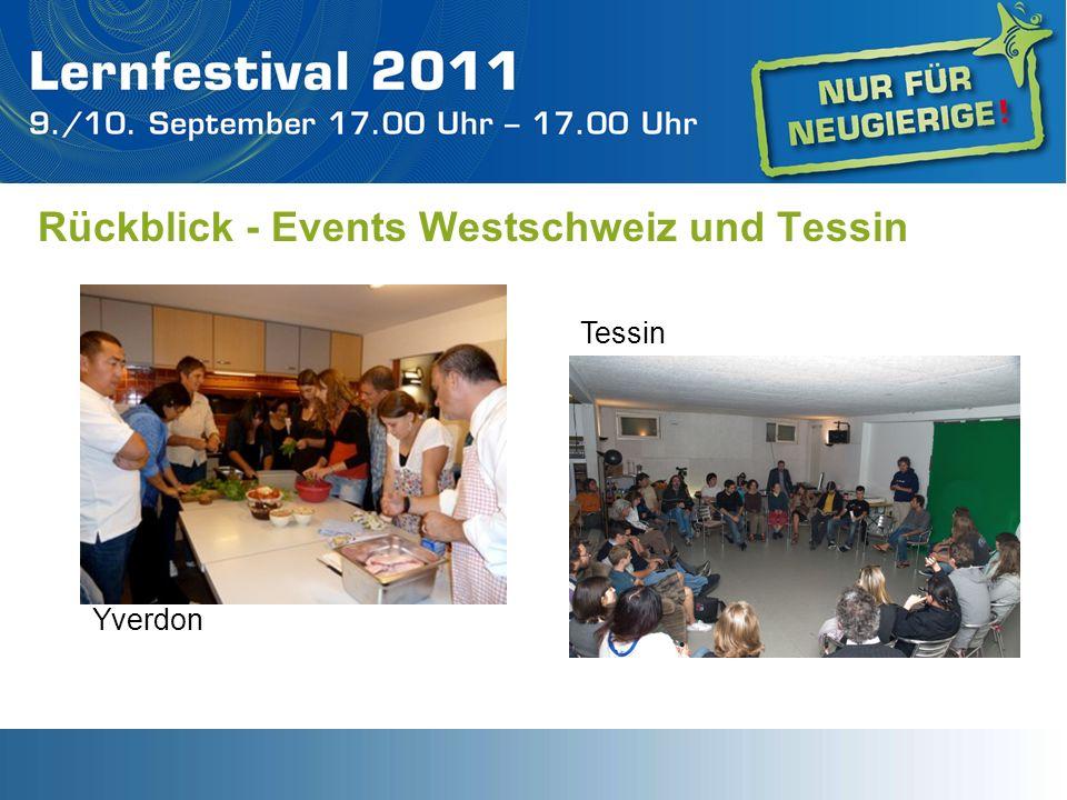 Rückblick - Events Westschweiz und Tessin Tessin Yverdon