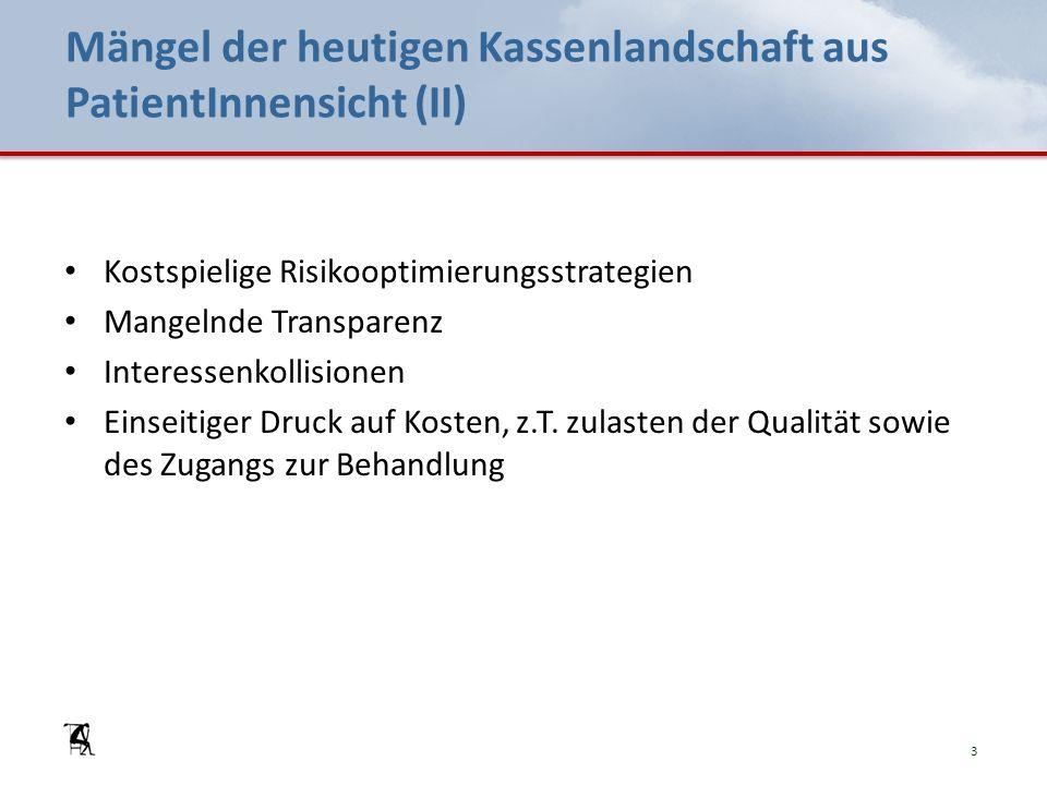 Ziele der Initiative für eine öffentliche Krankenkasse (III) Übergangsbestimmungen: Art.