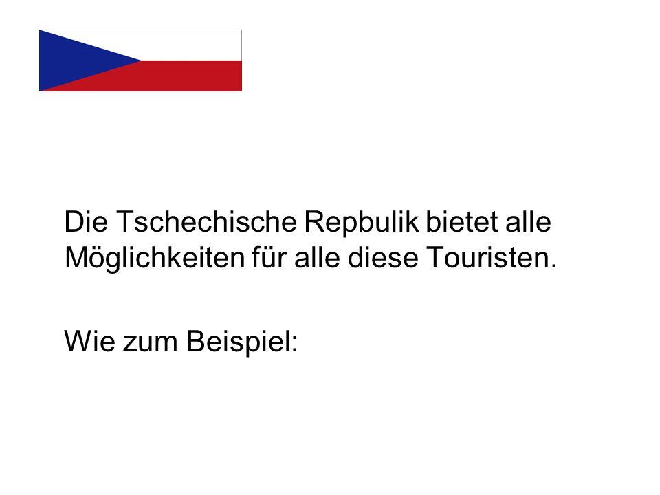 Die Tschechische Repbulik bietet alle Möglichkeiten für alle diese Touristen. Wie zum Beispiel:
