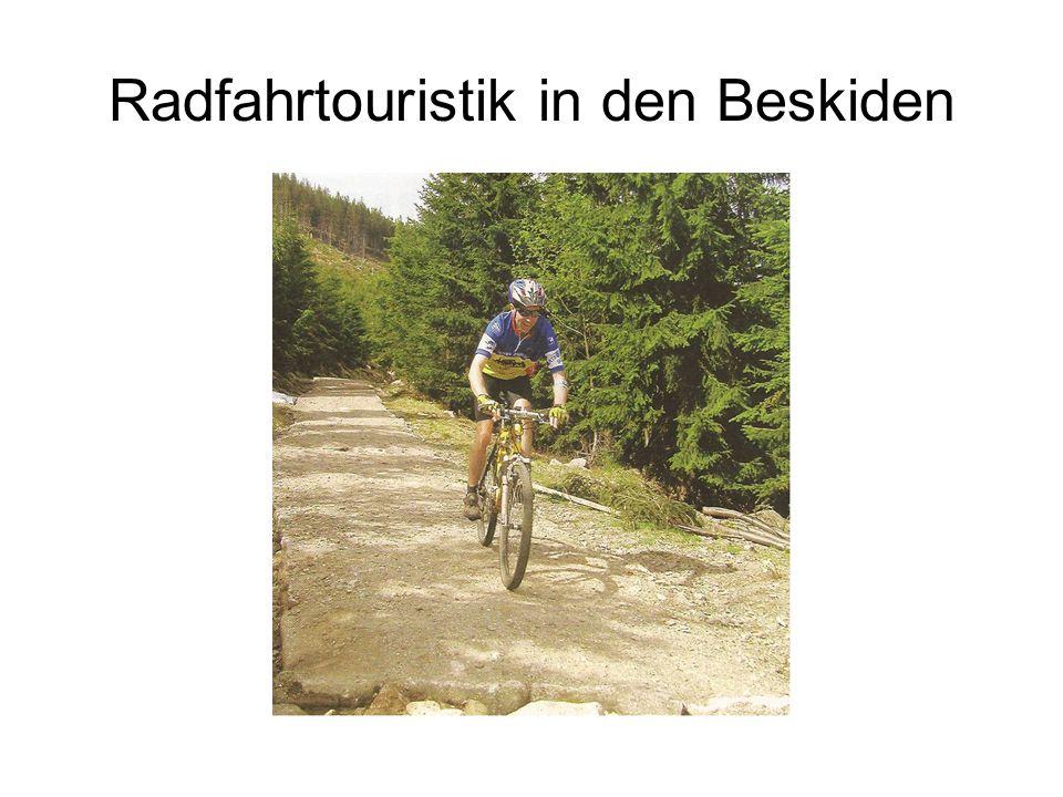 Radfahrtouristik in den Beskiden