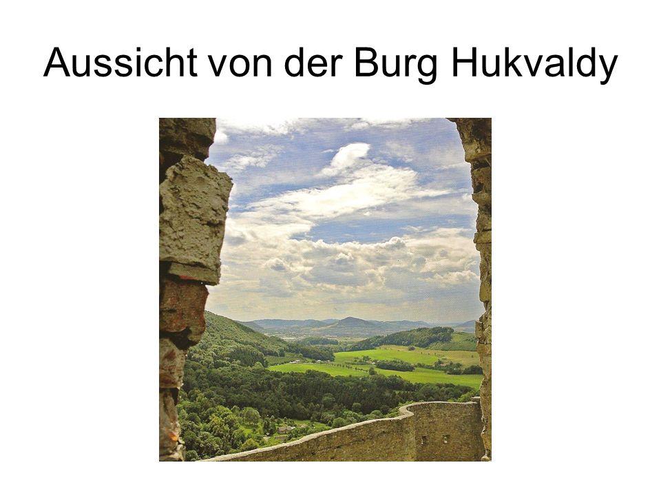 Aussicht von der Burg Hukvaldy