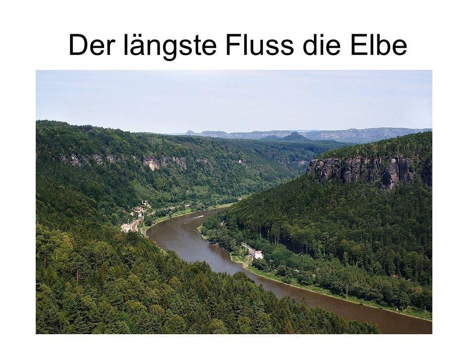 Der längste Fluss die Elbe