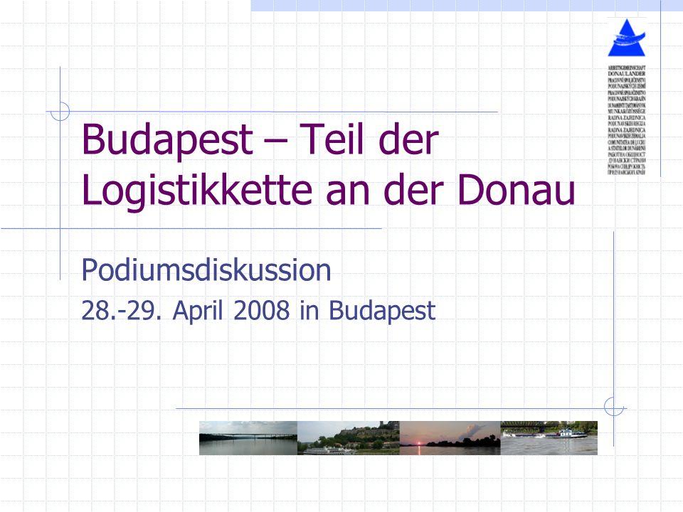 Budapest – Teil der Logistikkette an der Donau Podiumsdiskussion 28.-29. April 2008 in Budapest