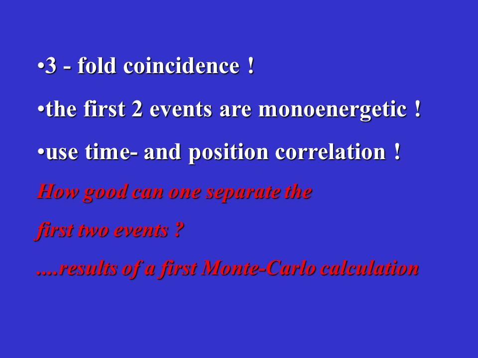 3 - fold coincidence !3 - fold coincidence .