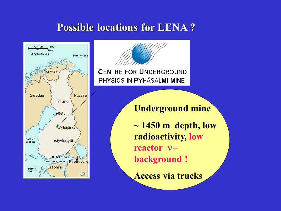 Possible locations for LENA .