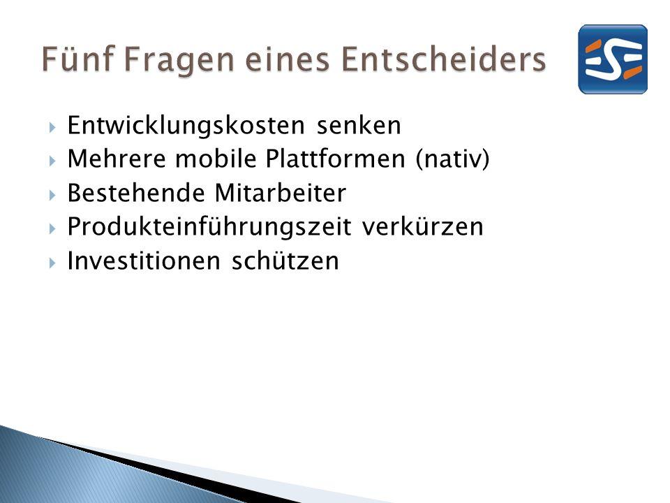 nativ Web Interaktions- elemente Deployment, Updates Offlinefähigkeit (Ticket kaufen) Hardware (Schütteln für Ticket) 80 %20 % Onlinezeit Stefano Malle (Microsoft), 2012