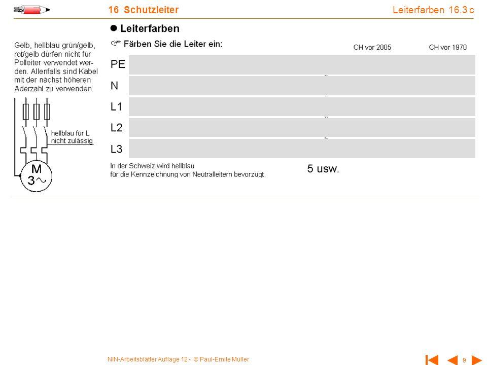 NIN-Arbeitsblätter Auflage 12 - © Paul-Emile Müller 20 18 Potentialausgleich Übung 1 zum HPA 18.2 a