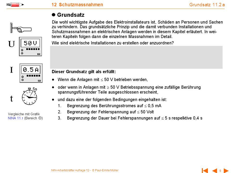NIN-Arbeitsblätter Auflage 12 - © Paul-Emile Müller 5 12 Schutzmassnahmen Grundsatz 11.2 a