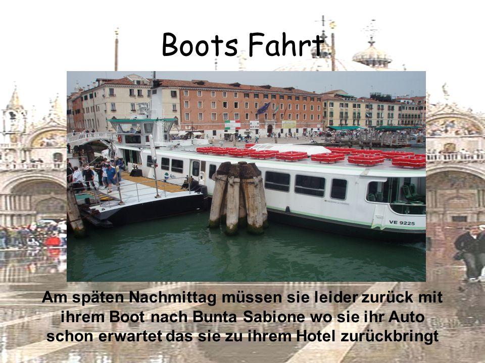 Boots Fahrt Am späten Nachmittag müssen sie leider zurück mit ihrem Boot nach Bunta Sabione wo sie ihr Auto schon erwartet das sie zu ihrem Hotel zurückbringt