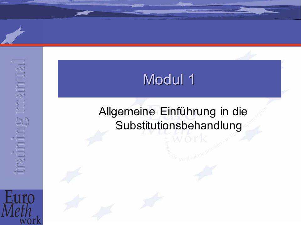 Allgemeine Einführung in die Substitutionsbehandlung Modul 1
