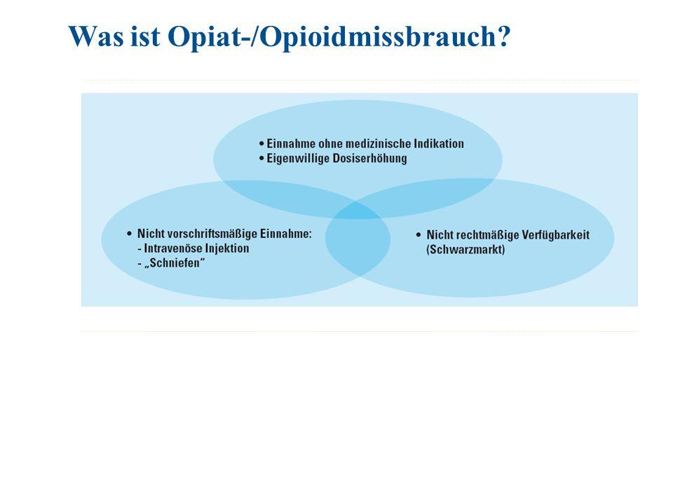 Was ist Opiat-/Opioidmissbrauch?