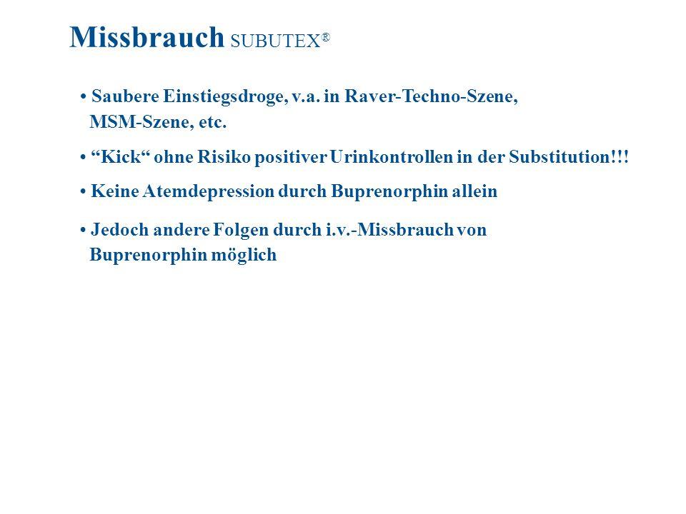 Saubere Einstiegsdroge, v.a. in Raver-Techno-Szene, MSM-Szene, etc. Kick ohne Risiko positiver Urinkontrollen in der Substitution!!! Keine Atemdepress