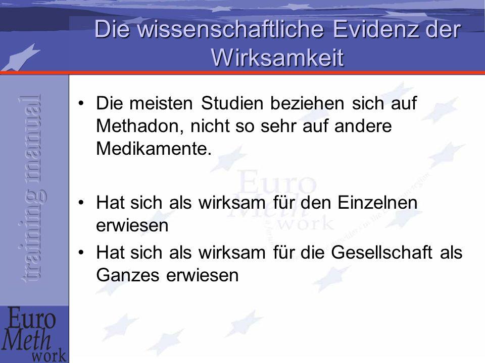 Große Fülle an wissenschaftlicher Evidenz JC Ball and A Ross (1991).