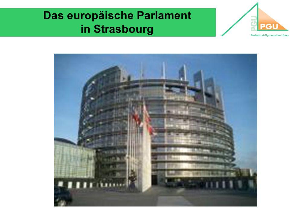 Das europäische Parlament in Strasbourg