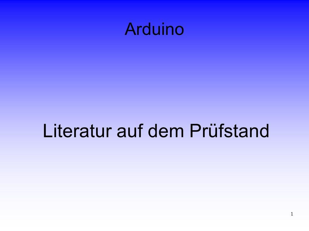 1 Arduino Literatur auf dem Prüfstand