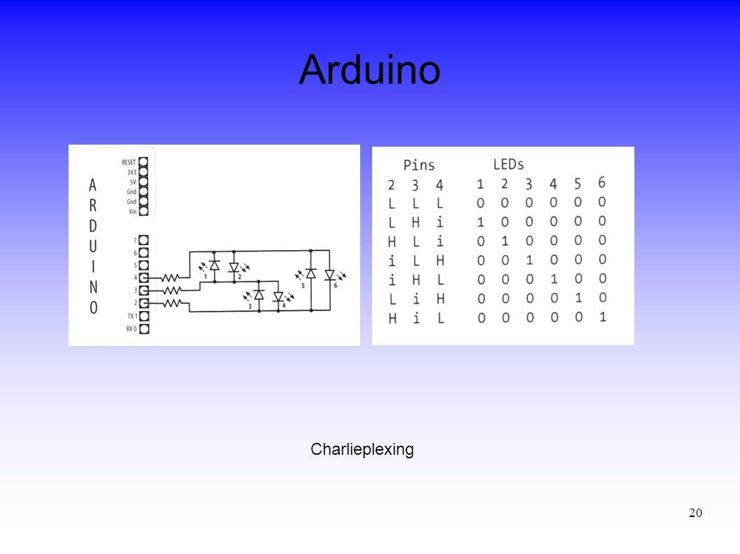 20 Arduino Charlieplexing