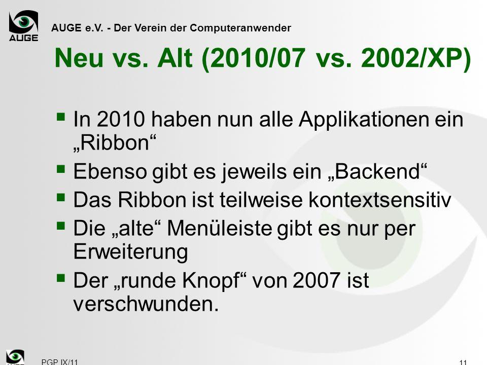 AUGE e.V. - Der Verein der Computeranwender PGP IX/11 Neu vs.