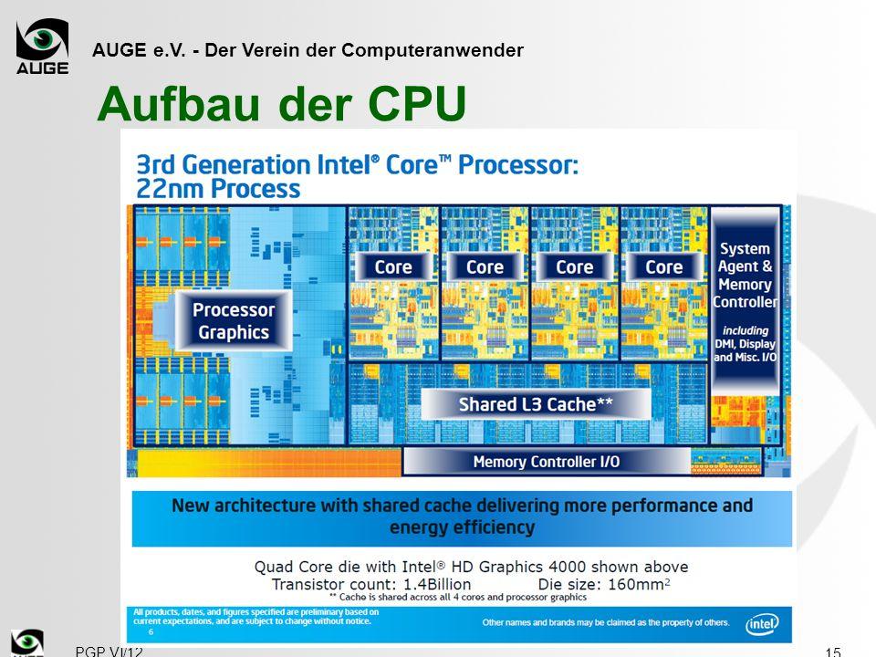 AUGE e.V. - Der Verein der Computeranwender Aufbau der CPU 15 PGP VI/12