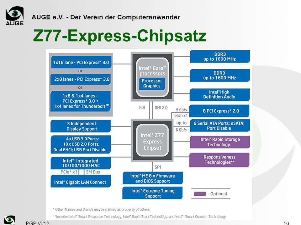 AUGE e.V. - Der Verein der Computeranwender Z77-Express-Chipsatz 19 PGP VI/12