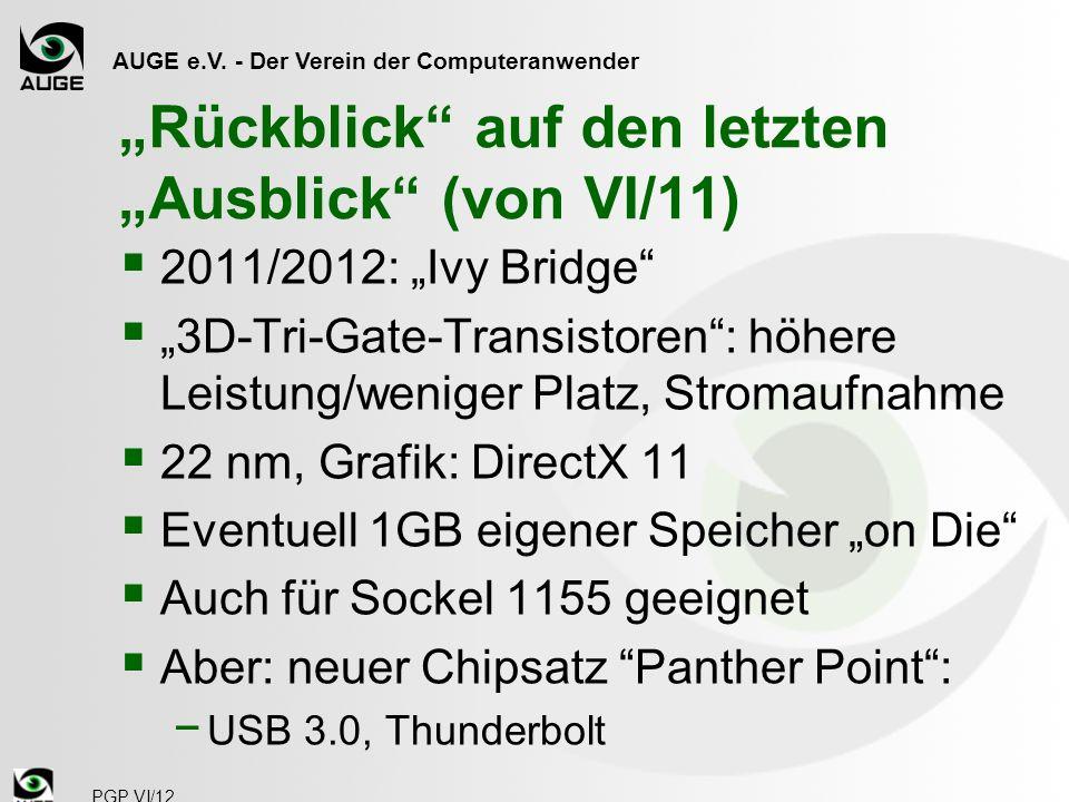 AUGE e.V. - Der Verein der Computeranwender Funktionsdiagramm PGP VI/12