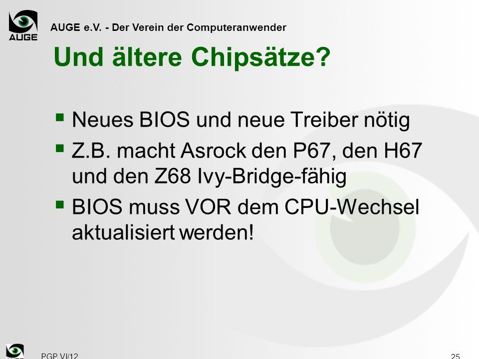 AUGE e.V. - Der Verein der Computeranwender Und ältere Chipsätze.