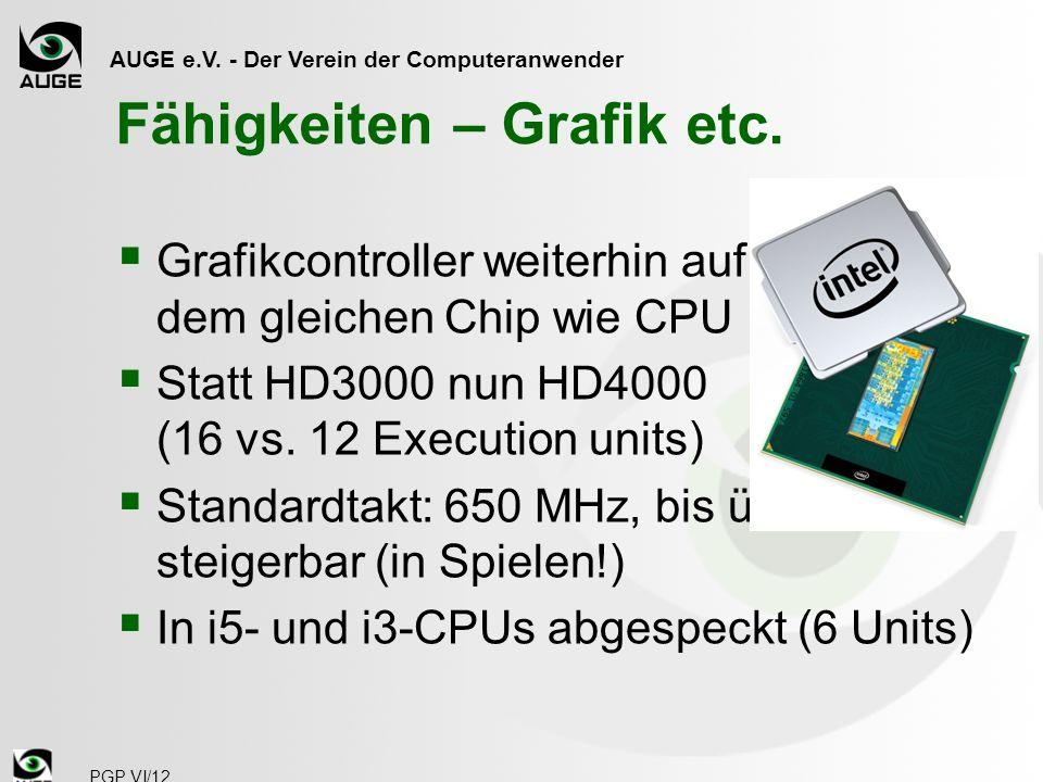 AUGE e.V. - Der Verein der Computeranwender H77 Express (ex PantherPoint) PGP VI/12