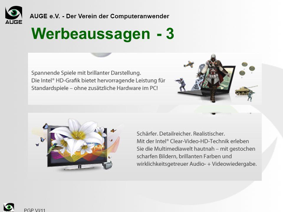 AUGE e.V. - Der Verein der Computeranwender PGP VI/11 Werbeaussagen - 3