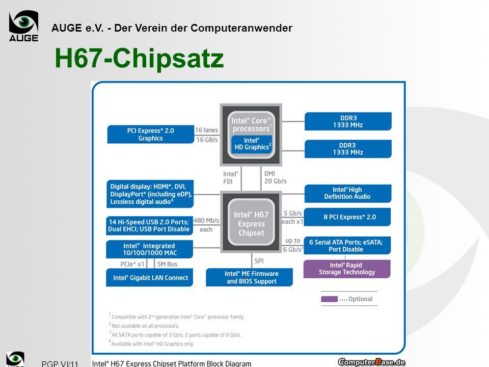 AUGE e.V. - Der Verein der Computeranwender PGP VI/11 H67-Chipsatz
