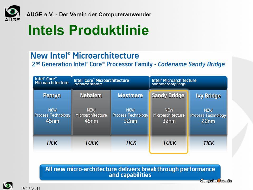 AUGE e.V. - Der Verein der Computeranwender PGP VI/11 Intels Produktlinie