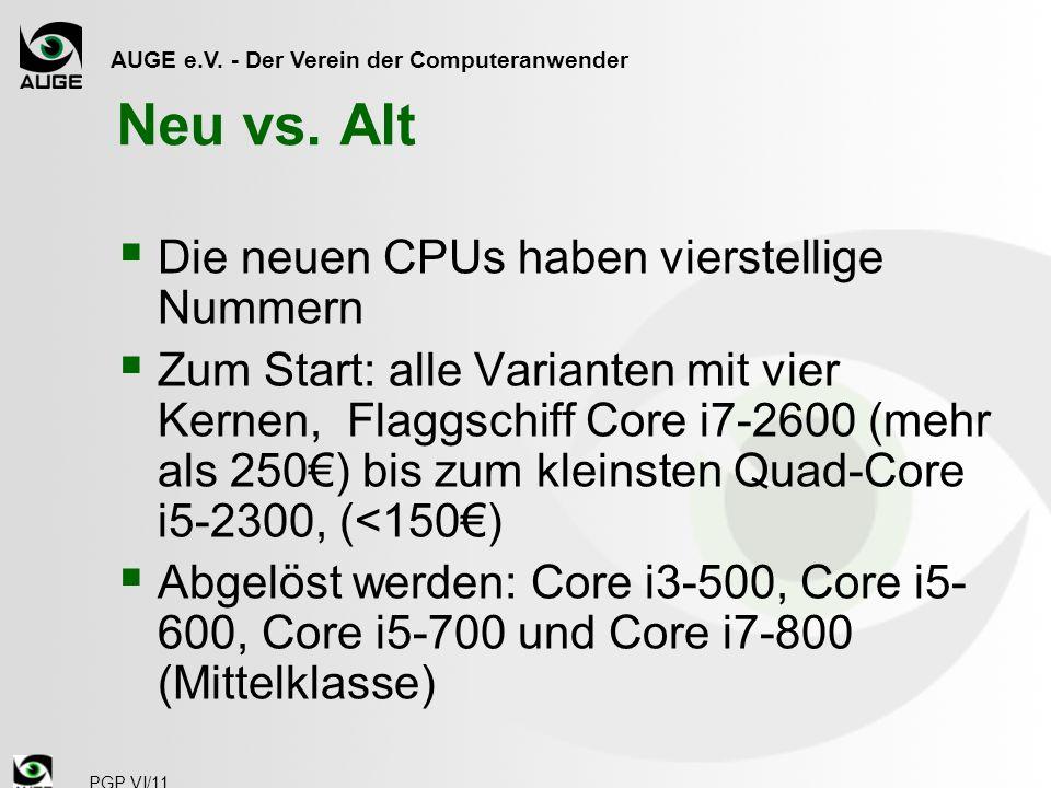 AUGE e.V. - Der Verein der Computeranwender PGP VI/11 Neu vs.