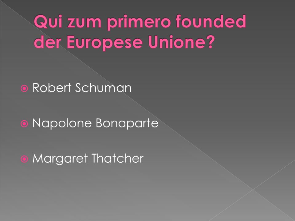 Robert Schuman Napolone Bonaparte Margaret Thatcher