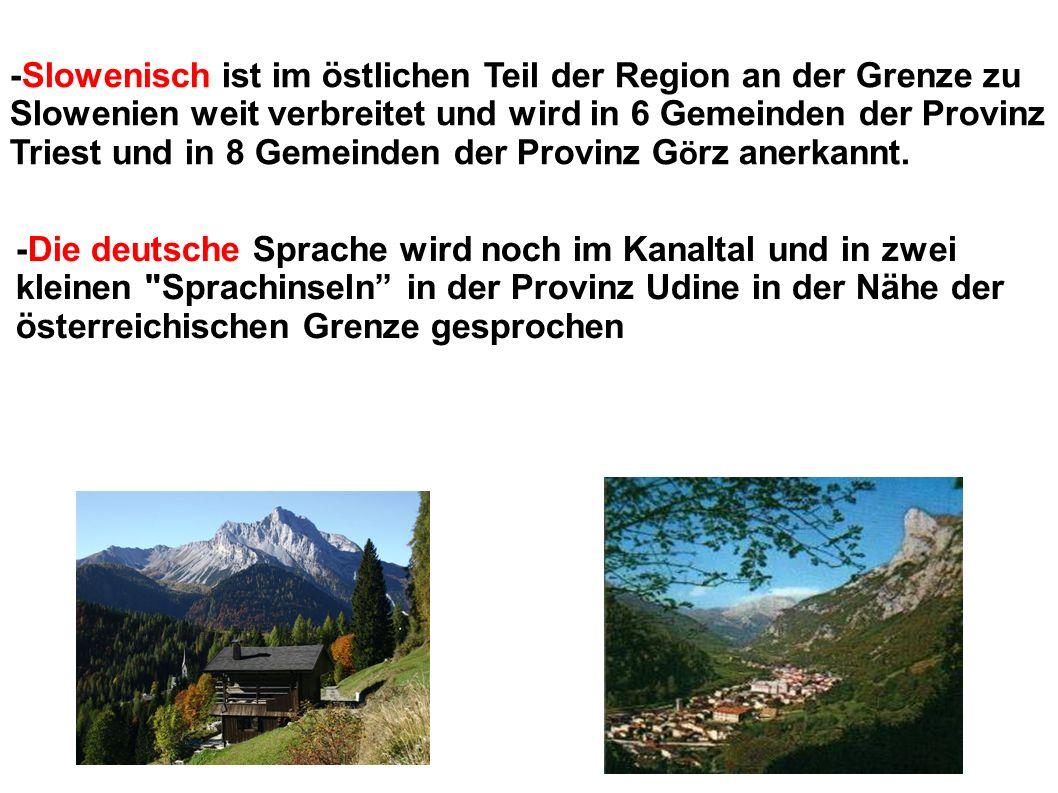 Die deutschen Gemeinschaften von Friaul Julisch Venetien befinden sich in fünf Gemeinden der Provinz Udine.