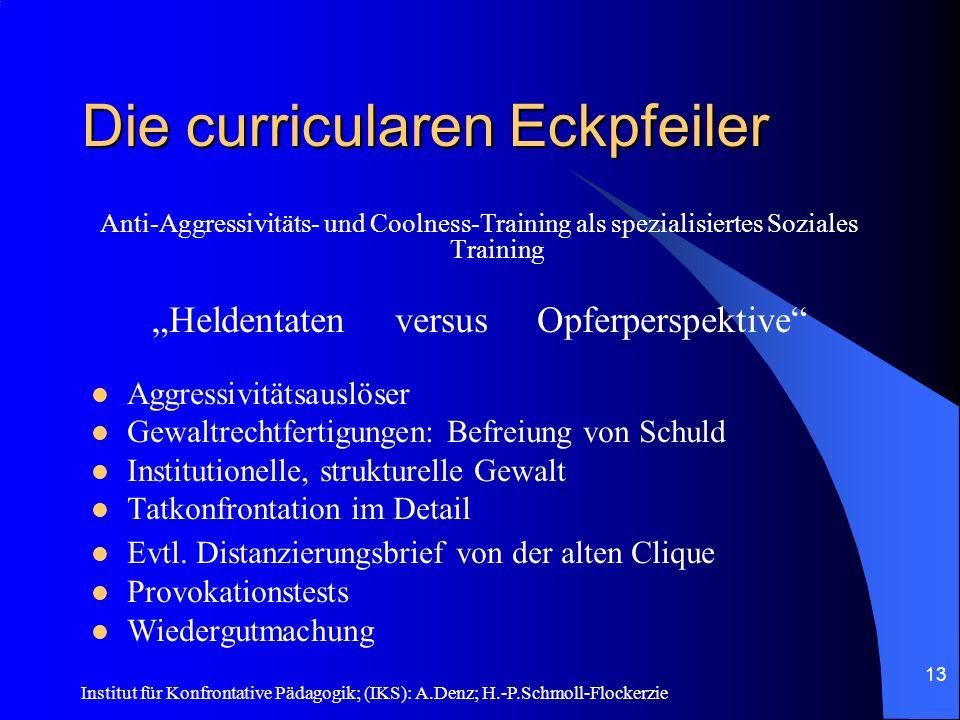 Institut für Konfrontative Pädagogik; (IKS): A.Denz; H.-P.Schmoll-Flockerzie 12 AAT – IK-S 1. Abend: Einführung/Vertrag 2. bis 5. Abend: Interview mit