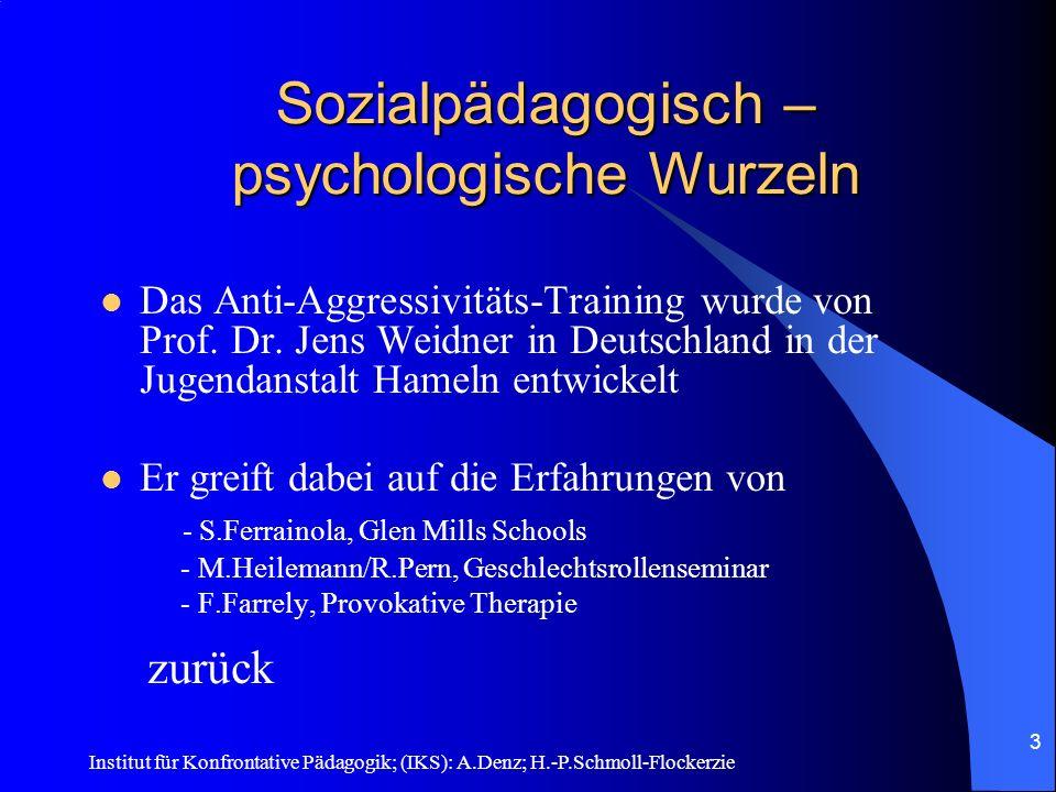 Institut für Konfrontative Pädagogik; (IKS): A.Denz; H.-P.Schmoll-Flockerzie 2 Gewaltdelikte für AAT