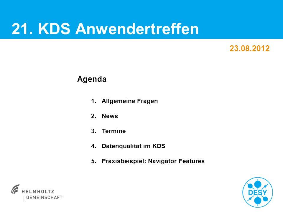 Vorname Name | Titel der Veranstaltung | Datum | Seite 2 KDS-Anwendertreffen > Allgemeine Fragen ??.