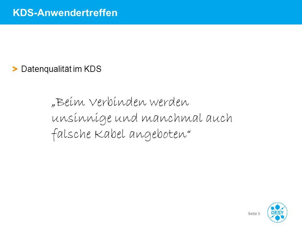 Vorname Name | Titel der Veranstaltung | Datum | Seite 6 KDS-Anwendertreffen > Datenqualität im KDS Suche nach Patchkabeln im KDS….
