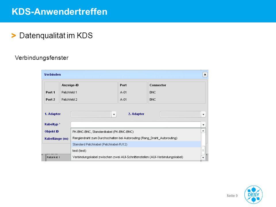 Vorname Name | Titel der Veranstaltung | Datum | Seite 10 KDS-Anwendertreffen > Datenqualität im KDS Kabel im KDS ohne genaue spezifizierte Anschlüsse….