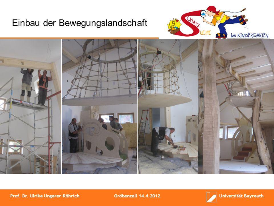 Einbau der Bewegungslandschaft Prof. Dr. Ulrike Ungerer-RöhrichGröbenzell 14.4.2012Universität Bayreuth