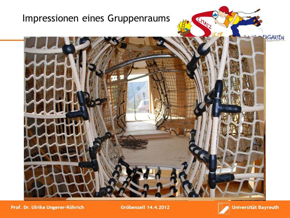 Impressionen eines Gruppenraums Prof. Dr. Ulrike Ungerer-RöhrichGröbenzell 14.4.2012Universität Bayreuth