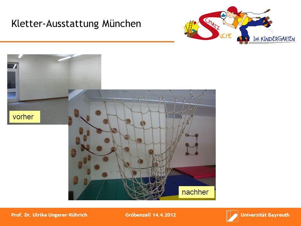 Kletter-Ausstattung München vorher nachher Prof. Dr. Ulrike Ungerer-RöhrichGröbenzell 14.4.2012Universität Bayreuth