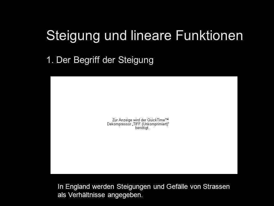 Steigung und lineare Funktionen 1.